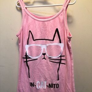 Adorable cat w/ glasses on pink